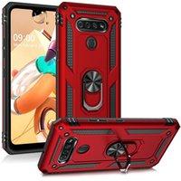 Per LG K51 STYLO 6 caso di TPU PC rotante anello di supporto magnete del telefono mobile della copertura del basamento Guscio del supporto da auto per Samsung A01 A21