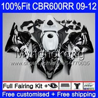 Injection Pour HONDA CBR 600RR 600F5 CBR600RR 09 10 11 12 282HM.11 CBR 600 RR F5 CBR600 RR 2009 2010 2011 2012 Kit carénage Graffiti noir