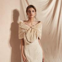 7be8b2d16a69 New Arrival. CMS18085 Bridal Shawl Fur Wraps Evening Prom Boleros Marriage  Shrug Coat Brider Wedding Party Fashion Bridesmaid dress Wraps
