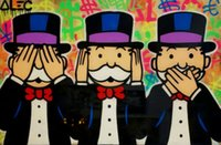 Alec Monopoly Graffiti art decor Three Monkeys tribute Home ...