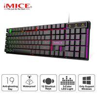 Imice Gaming Keyboard Imitation Mechanical Keyboard Backlight Anglish Gamer Keyboard Wired USB Game Keyboards Computer