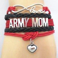 Бесконечность Любовь Армия Мама Команда Браслет Браслет Браслеты Дружбы B09473