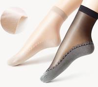 Sexy del merletto della maglia a rete calzini trasparenti Stretch elasticità divertente calzini di vetro filato della rete sottile Donne Stealth seta Calzini Drop Ship P502