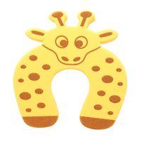 Cartoon Tier Schaum Türstopper Schutzkissen Halter Lock Safety Guard für Kinder Kinder Baby Gelbe Giraffe