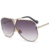 X907 Occhiali da sole pilota donne del progettista di marca Gli uomini di lusso specchio Sunglass V Oversize Cancella Femminile 2018 vetro di Sun degli occhiali femminile piatto TopDR35628