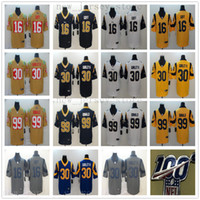 رخيصة 100 LosAngelesRamsFootball جيرسي مخيط 30 ToddGurley II 99 AaronDonald 16 JaredGoff 2019 InvertedLegend VaporUntouchable جيرسي