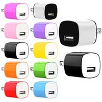 미국 벽 충전기 5V 1A AC 홈 여행 전원 어댑터 삼성 갤럭시 S6 S7 가장자리 S10 HTC 안드로이드 전화 PC MP3