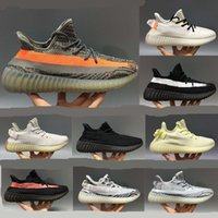 2019 Big size 36-48 Yecheil Kanye v2 Casual shoes men women reflective triple black static reflective cloud white citrin zebra bred stock