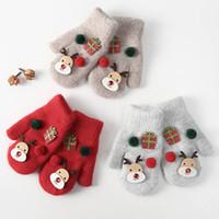 Épaissi cerf gants de laine belle Mittens chauds d'hiver des gants en peluche de Noël doigtée cadeau de Noël