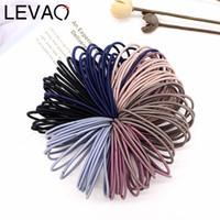 LEVAO 50pcs lot 5CM Hair Accessories Women Rubber Bands Scru...
