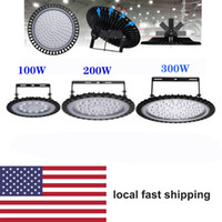 야외 조명 UFO LED 높은 베이 라이트 200W 100W 차고 램프 산업 조명 300W 창 고에 대 한 슈퍼 밝은 6000lm IP65 방수