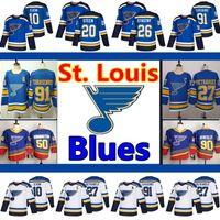 Men's St. Louis Blues Jerseys 50 Binnington 90 Ryan O'Reilly 10 Schenn 27 Pietrangelo 91 Vladimir Tarasenko 55 Colton Parayko Hockey Jersey