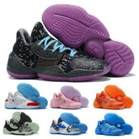 Harden Vol 4 Herren-Basketball-Schuhe Pink Lemonade Süßigkeit Farbe Lila Camo Scarlet Friseursalon Glow Green Royal Bright Blue BHM Basket Sneakers
