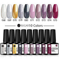 UR SUCRE 7.5ml de Set Nail Gel Polish Nails Gel UV Glitter Long Lasting Soak Off Base Coat polonais No Wipe Top Coat