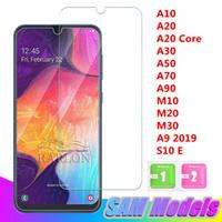 Yeni Temizle Temperli Cam Telefon Ekran Koruyucu Için Samsung Galaxy A10 A30 A50 A70 A90 M10 M20 M30 A9 pro 2019 S10 E