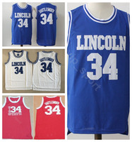 New Arrival. Lincoln Moive 34 Jesus Shuttlesworth Jersey Men Basketball  Uconn Connecticut Huskies Jerseys Movie Big State He Got Game Blue ... d9fa82540