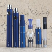 Vape Dab Penne eVod Vaporizzatore 4 in 1 Starter Kit Dry Herb Wax Oil Vapes 510 Thread USB Passthrough CE3 Vape Cartucce Kit