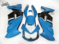 Personalizza set carenatura cinese per Kawasaki Ninja 650R ER-6F 2006 2007 2008 Blue Black Fairings Kit Body 06 07 08 ER6F