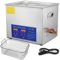 Nettoyeur à ultrasons professionnel 10L 304 numérique en acier inoxydable Lab Nettoyeur à ultrasons avec chauffage minuterie pour bijoux