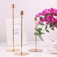 Jeyl 3pcs / set chino estilo de metal candelabros simple oro decoración de boda barra fiesta sala de estar decoración casera decoración velas