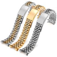 13 17 20 mm solide en acier inoxydable à deux tons creux courbé Fin massif Vis Lien du bracelet montre bracelet pour Rolex Datejust Old Style Bracelets Jubilé
