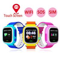 Q90 Çocuk Akıllı İzle GPS Konum Spor Tracker SOS Çağrı Uzaktan Adımsayar Dokunmatik Ekran Bilezik Ücretsiz Kargo İzleme