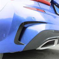 Araç Şekillendirme Gövde Arka Sis Lambası ızgara çubuklarının Kuyruk Işık Kapaklar Çıkartma Trim İçin BMW 3 Serisi G20 G28 2020 Karbon Fiber Stili