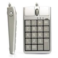 Venta al por mayor del teclado USB iOne Scorpius ratón óptico N4, atado con alambre 19 Teclado numérico con el ratón y rueda de desplazamiento para la entrada rápida de datos contador