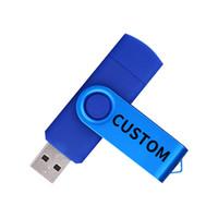 Venta al por mayor personalizada Su logotipo OTG USB Flash Drive 4GB 8GB 32GB 64GB 128GB Alta calidad USB 2.0