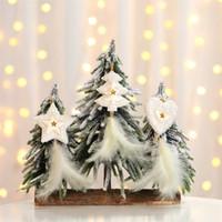 Piume pendente Oro Argento Albero di Natale Pentagram Decorazioni di Natale stella a cinque punte piuma ornamenti d'attaccatura JK1910 arredamento partito