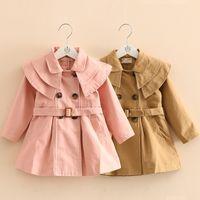 Kinder Kleidung Mädchen Tench Coats Kinder England Stil Outwear Frühling Herbst Winter Mantel Boutique Baby Kleidung 3 Farben C1470