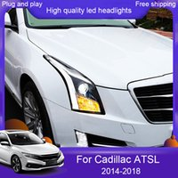 2st Car Styling LED-lampa för Cadillac ATS-strålkastare 2010-2018 Ny Cadillac ATS XT5 SRX LED H7 HID Q5 BI-Xenon Lens Low Beam