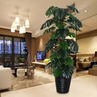 Kunstpflanzen Baum gefälschte Baum 150cm Turtle Innen-Wohnzimmer Bonsai gefälschte Blumendekoration Grün faux Pflanzen