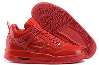 Authentic Official Mens IV 4s Basketball Shoes Real Red Mirr...