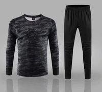 2019 erkek Futbol Kaleci Forması Kiti Koleji Futbol Formaları Eşofman Kaleci Üniformaları çocuk Spor Eğitim Gömlek Pantolon Setleri