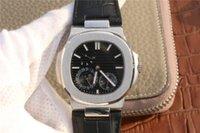 Süper 5712 montre DE lüks (kinetik enerji ekran, takvim, ay fazı) 316 ince metal kaplama, mekanik hareket erkek saatler