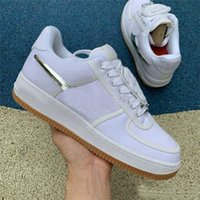 2019 Con scatola 10X Forces Low 1 X TRAVIS SCOTTs One Scarpe da corsa da uomo The Pure White Sports Trainer Women Designer Shoes