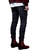 Yırtık dökümlü Slim Fit Jeans GD Biker Mens Tasarımcısı Delikler Kalem Jean pantolon Pantalones