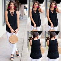 Womens Summer Strappy Vest Top Sleeveless Shirt Blouse Casua...
