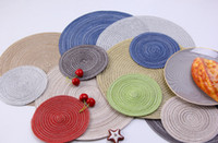 Circular eat mat Western food mat Insulation mat non-slip HOT Round Woven Placemats for Dining Table Heat Resistant Wipeable Placemat YSY24Q