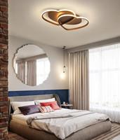 85 v-260 v Led Avize Tavan Lambası Modern Aydınlatma Plafondlamp Oturma Odası Yatak Odası Restoran Banyo için Kalp şeklinde Işık