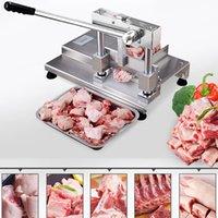 Couper le porc côtelette os trotteurs machine trancheuse à viande en acier inoxydable levier structure de la voie principe Scier os machine à vendre