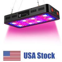 2400W 타이밍 LED 성장 조명, 전체 스펙트럼 LED 온도계 습도 모니터 및 데이지 체인 습도 모니터와 블룸 스위치가있는 전체 스펙트럼 LED