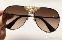 Новая мода популярные дизайнерские солнцезащитные очки Big bee 2238 без оправы УФ-объектив высокое качество стимпанк открытый стиль