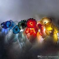 Пользовательские декоративные ручной выдувного муранского стекла настенные тарелки Цветок Дизайн Mouth выдувное стекло настенные светильники для отеля Лобби Decor
