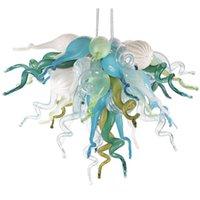 Top Verkauf Modern LED Kronleuchter Licht Kreative Kunst Nordic Einfaches Restaurant Amerikanisch Stil Schlafzimmer Murano Glas Kronleuchter Pendelleuchte