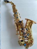 Alta qualità Strumenti a Fiato nuovo arrivo YANAGISAWA SS-992 Oro lacca Sassofono Soprano performance Instruments con il caso