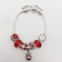 New style DIY Red Crystal Glass beads Santa Claus Series Wom...