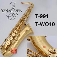 YANAGISAWA Tenor Saxophone T-991 T-WO10 model Bb Electrophoresis gold Tenor Sax Professional Woodwind instrumen With mouthpiece & bag