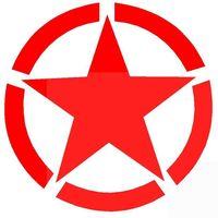 سيارة محرك غطاء الرأس خزان الوقود كاب الإطارات الاحتياطية سقف ملصقات الخماسية ستار الحرب العالمية الثانية لاصق ملصق مائي